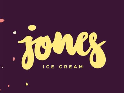 jones ice cream icecream letters vector branddesign branding logo