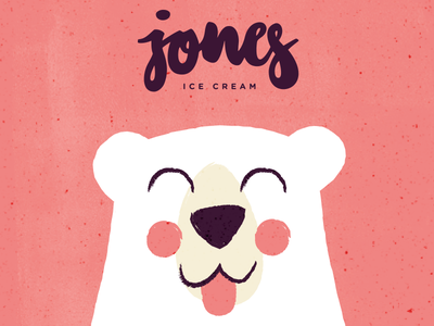 jones ice cream #2 cute tiny bear polarbear animal illustration vector logo letters icecream branding branddesign