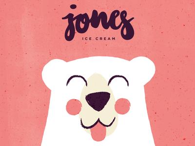 jones ice cream #2 cute tiny bear polarbear animal illustration vector logo letters icecream branding branddesign