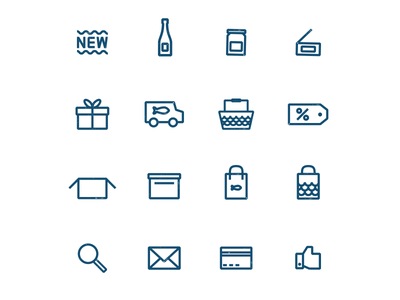 Fish Market Icons pictogram web seaside seafood market fish printed icons