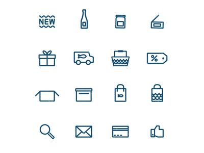 Fish Market Icons pictogram web seaside seafood market fish printed icons