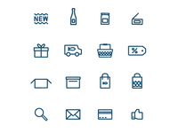 Fish Market Icons