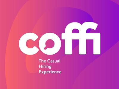 Coffi ligature keepitsimple startup tech colorgradient branddesign branding logo