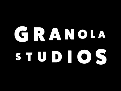 Granola Studios subtle simple clean wordmark virtualreality filmstudio startup branddesign branding logo