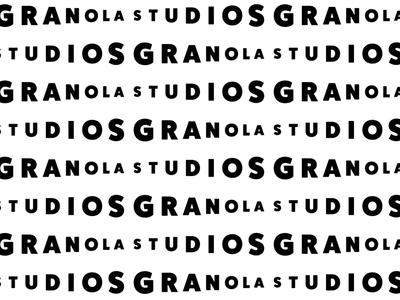 Granola Studios Pattern repeating pattern wordmark virtualreality subtle startup simple logo filmstudio clean branding branddesign