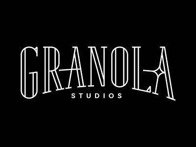 Granola Studios retro vintage wordmark virtualreality logo filmstudio branding branddesign