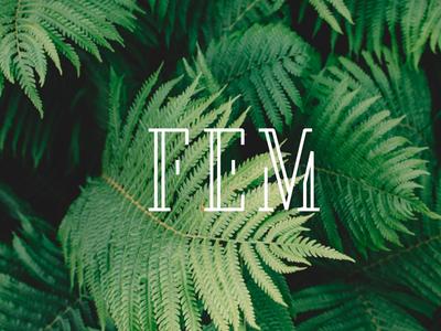 FEM five letters vector branddesign branding logo