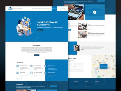 Website Layout Design for Software Development Company