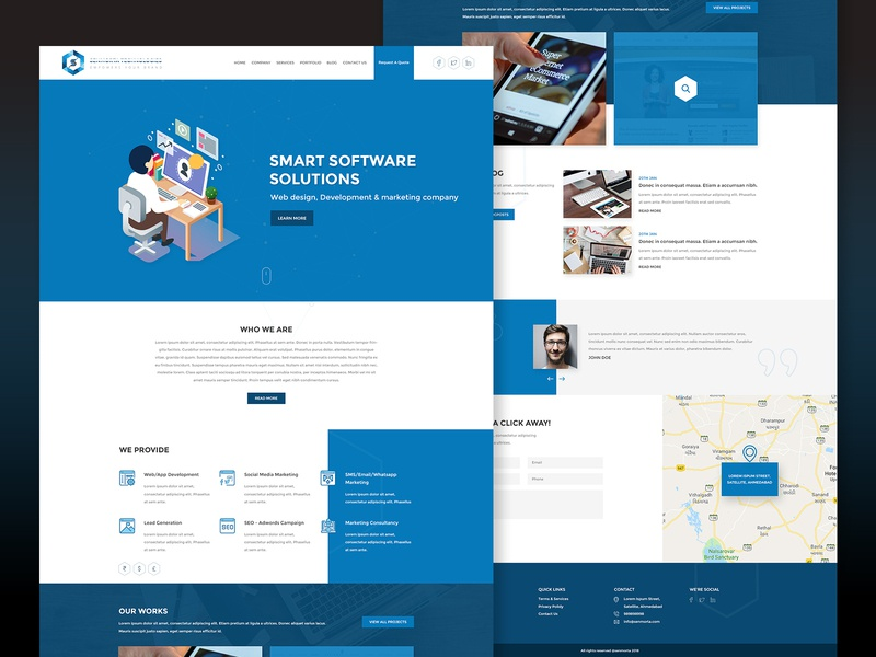 Website Layout Design for Software Development Company by