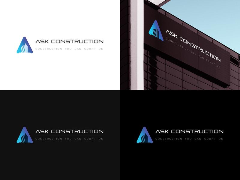 Construction Company Logo By Urmi On Dribbble