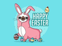 Easter drama llama