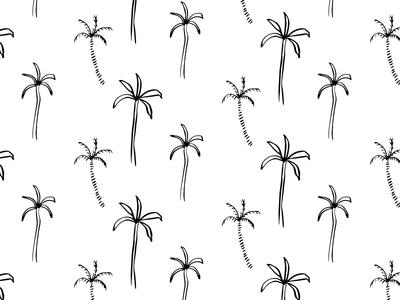 Palm Tree Pattern palmtreepattern blackandwhite cleandesign simple minimal patternlove sakurabrushpen handdrawn illustrator palmtree patterndesign pattern