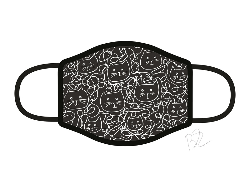 Lazy Cats Face Mask