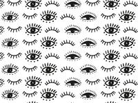 Eye Pattern patterndesigner surfacepatterndesigner dots mystic minimalist modern eyepatternn illustrator eyelash eyes eye pattern illustration