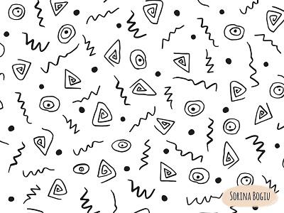 Squiggles Pattern patterndesign homedecore fun zigzag lines handdraw dots patternart patternlove patterndesigner surfacedesign squiggles pattern design illustrator illustration