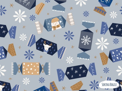 Christmas Candy Pattern trees dear dots artlicensing homedecore surfacepatterndesign cute art star snowflake snowman winter snow wrapcandy christmaspattern xmas christmas pattern cute illustrator illustration