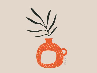 Abstract Vase Illustration vase minimal modern vector pattern cute design illustrator illustration