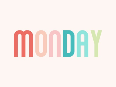 Happy Monday design photoshop pink cute illustration