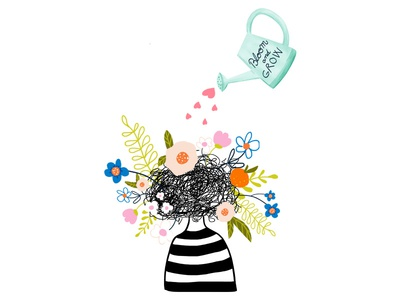 Optimism heart editorialillustration matseditorial grow bloom illustrator design conceptual photoshop flowers illustration editorial mats optimism