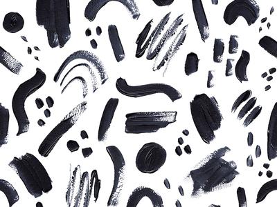Abstract Brush Strokes Pattern surface pattern surface design illustration paint blackandwhite pattern design acrilyc brush abstract pattern