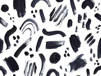 Abstract Brush Strokes Pattern surface pattern surface design illustration paint blackandwhite pattern design acrilyc brush abstract pattern