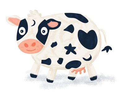 Cow photoshop editorial design editorial cute mats cow design illustration