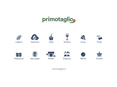 primotaglio.it brainin minimal ux ui logo vino pasta mozzarella gifts checkout offer pizza wine icon front design primotaglio italy business ecommerce shop