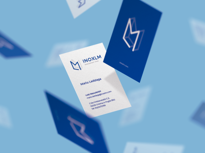Inox Business Card inoxlm blue inox card design busines card branding