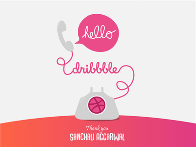 Hello from the other side. shot first invite debut first shot dribbble hello