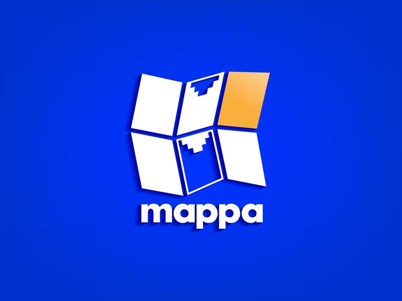 Logo refresh project for Mappa System Ltd. logo design alphabet logo logo design branding branding and identity logo 2d logotype digital map logo mark logo alphabet logo refresh