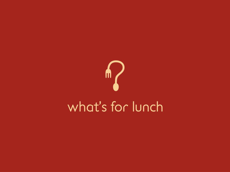 whatsforlunch food fork spoon question mark symbol logo lunch eat meal application app