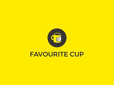 favourite cup hand minimalist minimal logotype logo mug cup favourite