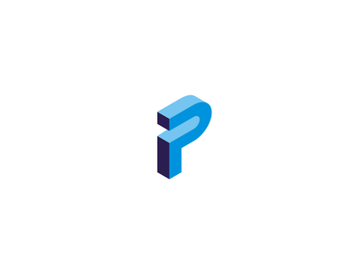pi monogram minimalist minimal lettermark monogram blue symbol logo pi pi monogram