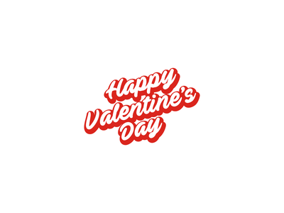 Happy Valentine's Day lettering logo script calligraphy valentine day valentine happy valentines day