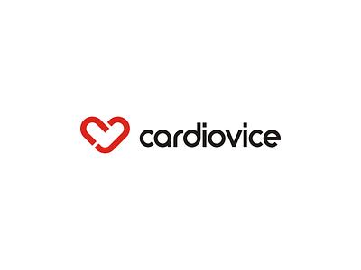 cardiovice cv lettermark cv monogram ekg lettermark monogram heart health medical puls device cardio