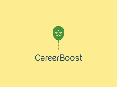 CareerBoost minimalist minimal career boosting boosting symbol logo star balloon boost career