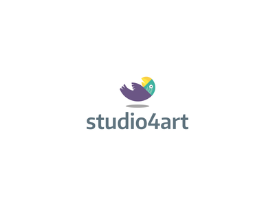parrot minimalist minimal golden spiral golden ratio goldenratio colorfull animal parrot symbol logo studio