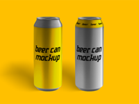 Small update for beer can mockup