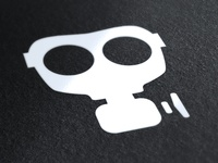 Gasmask Movie Camera Logo