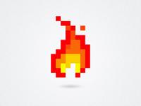 Pixel Flame