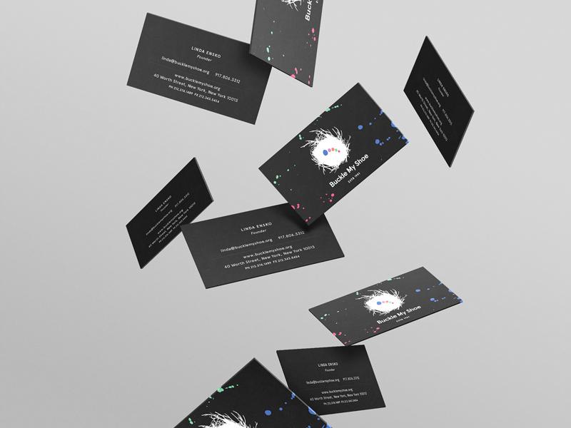 Buckle My Shoe Branding creative direction print media digital design business card branding