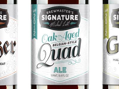 Choc Signature beer label choc