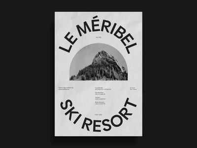Méribel - posters posters poster french ski sport winter digital vector animation typography branding design minimal