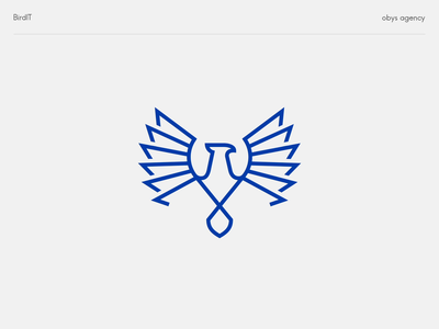 BirdIT - logo digital develope bird minimal design colourful vector icon mark logo branding