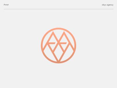 Amat - logo animation letter icon clothe fashion typography monogram mark logo branding design minimal