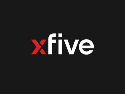 Xfive - Pattern pattern mark illustration colourful vector logo branding design minimal