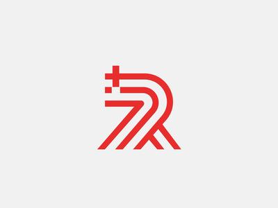 RunPlus - logo health run sport app digital animation monogram vector letter colourful mark logo branding design minimal