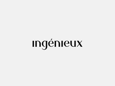 Ingenieux - logo concept digital animation colourful typography letter mark logo branding design minimal
