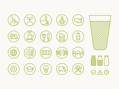 Goodnature Icons soft edge circle outline icons
