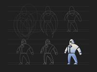 Astronaut Mascot Process